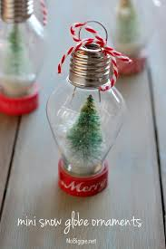 Decorating Clear Christmas Balls New DIY Mini Snow Globe Ornament