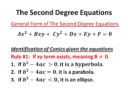 1 the second degree equations