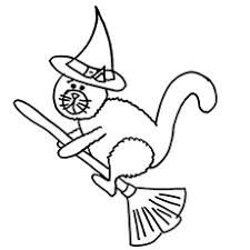Small Picture Happy Halloween Cat Coloring Pages Archives Gallery Coloring Page