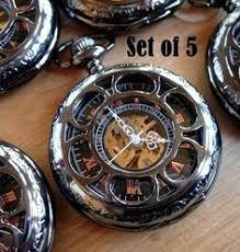 men vintage pocket watch antique watch mechanical hand by cabanyco pocket watch chain gunmetal black personalized engraving groomsmen gifts best man wedding