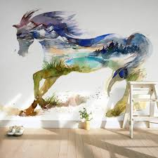horse wall decor home decor wall papers 3d children s bedroom living room wall