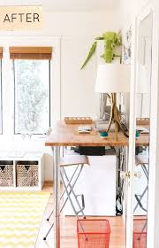 home office makeover pinterest. Brilliant Office Todayu0027s First Before U0026 After Is A Home Office Makeover Thatu0027s Fresh And  Sunny Makeover In Home Office Makeover Pinterest O