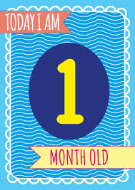 One Month Old Baby Milestone 1 Month Baby Family Cards Send Real Postcards Online