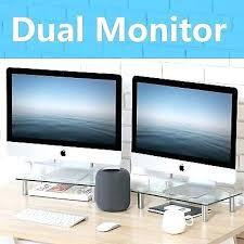glass computer monitor 2 computer monitor stand desk table glass shelf laptop riser desk glass computer