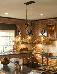 Lights For Island Kitchen French Country 3 Light Tulip Chandelier Kitchen Island Pendant