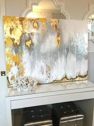 metallic wall paint luxury sold acrylic abstract art canvas painting gray silver gold design