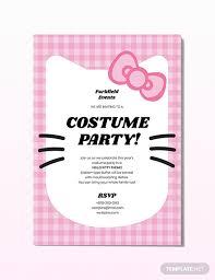Hello Kitty Party Invitation Hello Kitty Party Invitation Template Word Psd