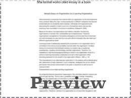 mla citation essay example cite essay by purdue owl mla  mla format works cited essay in a book mla citation examples based on the mla