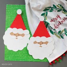 Santa Card For Kids To Make Handmade Christmas Card