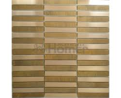 bronze and stainless steel Mosaic Metal Wall TILE strip pattern