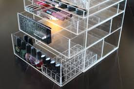 tempting makeup organizer large drawer acrylic makeup storage by luxbo with zoom