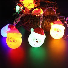 35 Light Strand Christmas Lights Us 5 88 35 Off Professional Santa Claus Pendant Decorative 10 20pcs Led Bulbs Lights String Lovely Holiday Lamp Decoration Cute Christmas In