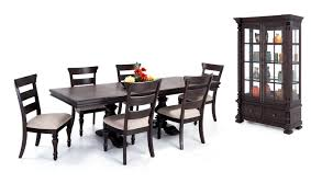 riverdale 8 piece dining set with curio wood side chairs