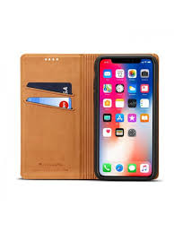 iphone xs max genuine leather folio case with card holder