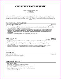 Sample Resume For Entry Level Construction Laborer Fresh