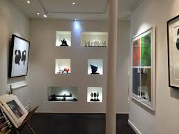 art gallery track lighting. the gallery was decorated and a brand new desk area designed installed art track lighting