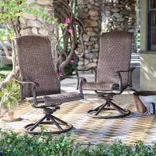 belham living charter all weather wicker swivel rocker set of 2 hayneedle