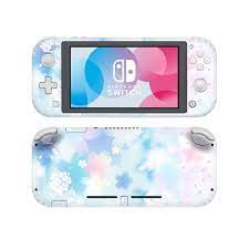 Pink Purple Flower NintendoSwitch Skin Sticker Decal Cover For Nintendo  Switch Lite Protector Nintend Switch Lite Skin Sticker|Stickers