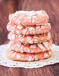 strawberry cake mix cookie recipe from thefrugalgirls com