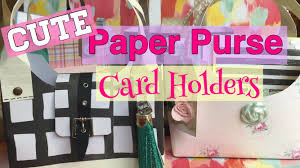 CUTE & Easy Paper Purse Card Holders // Mothers Day DIY Gift Ideas| I'm A  Cool Mom - YouTube