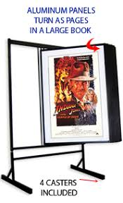 Multiple Poster Display Stands EuroDesign Aluminum Floor Swinging Panel Displays at FloorStands 13