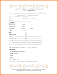 wedding planning contract templates 7 wedding planner contract monthly budget forms
