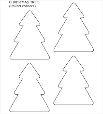 Christmas Tree Stencil Printable Christmas Tree Stencil Template Interestor Co