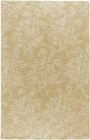 surya beige 8 x 11 wool fl contemporary damask area rug approx 8 x 11