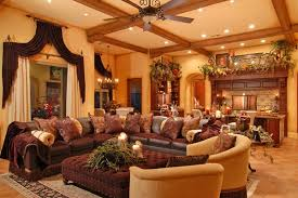 image of tuscan living room classic