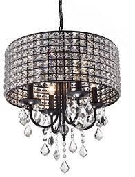 alytus 4 light crystal chandelier black