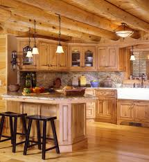 lighting flooring log cabin kitchen ideas recycled countertops