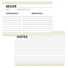 Recipe Blank Template Recipe Index Cards Index Card Template Note Blank Templates 6 7 Word