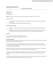 Example Cover Letter Template Sales Assistant With Sales Assistant