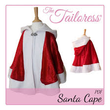Cape Sewing Pattern Enchanting Father Christmas Santa Cape PDF Sewing Pattern De Skroar