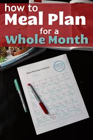 Weekly Meal Planning For One How To Meal Plan For A Whole Month Good Cheap Eats