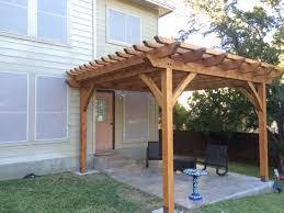 free standing pergola over deck how to