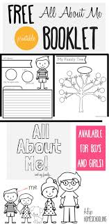 All About Me Worksheet: A Printable Book for Elementary Kids