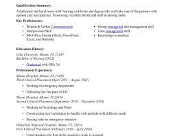 Skills Of An Icu Nurse Resume Format For Icu Nurse Cv Sample For