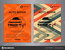 Auto Repair Flyer Set Auto Repair Business Layout Templates Automobile