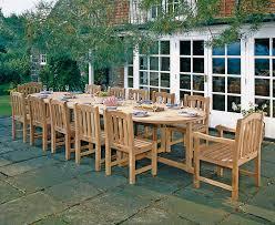 12 seater large teak dining set with