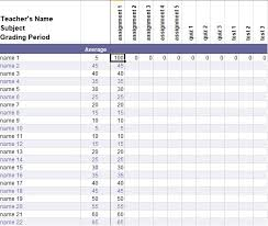 Free Teacher Grade Book Template Excel Excel Tmp