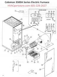 3500a818 coleman electric furnace parts hvacpartstore click here to view an installation manual which includes wiring diagrams