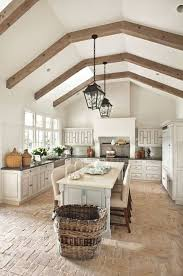 rustic french country kitchens. Rustic French Country Kitchen Design Ideas And Decor With Big Island, Beamed Ceiling Brick Kitchens