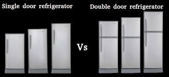 Samsung Refrigerator Comparison Chart Single Door Refrigerator Vs Double Door Refrigerator