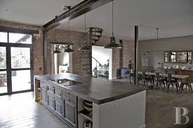 Industrial Kitchen Cabinets Modern Industrial Kitchen Ideas With Yellow Cabinet And Brown