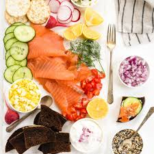 Deliciously salty, tangy and fresh. Smoked Salmon Platter Make In 15 Minutes Foxes Love Lemons