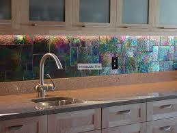 Kitchen Backsplash Glass Tile Oceanside Glass Tile Raku Iridescent Kitchen Backsplash Kitchen