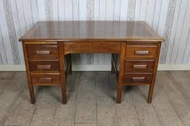 Image Wood This 1940s1950s Vintage Oak Office Desk Features Twin Pedestal Design With Multiple Drawers It Is In Good Condition For Its Ageu2026 Pinterest This 1940s1950s Vintage Oak Office Desk Features Twin Pedestal