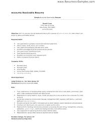 Sample Resume For Accounts Payable And Receivable Account Payable