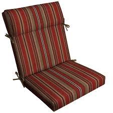 allen roth 1 piece priscilla stripe red high back patio chair cushion